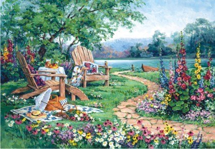 Lakeside Afternoon - 260pc Jigsaw Puzzle by Anatolian