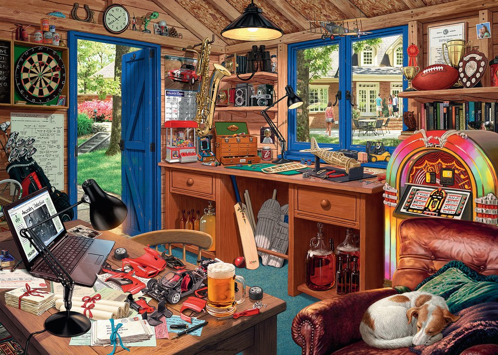 The Man Cave - 1000pc Jigsaw Puzzle By Ravensburger