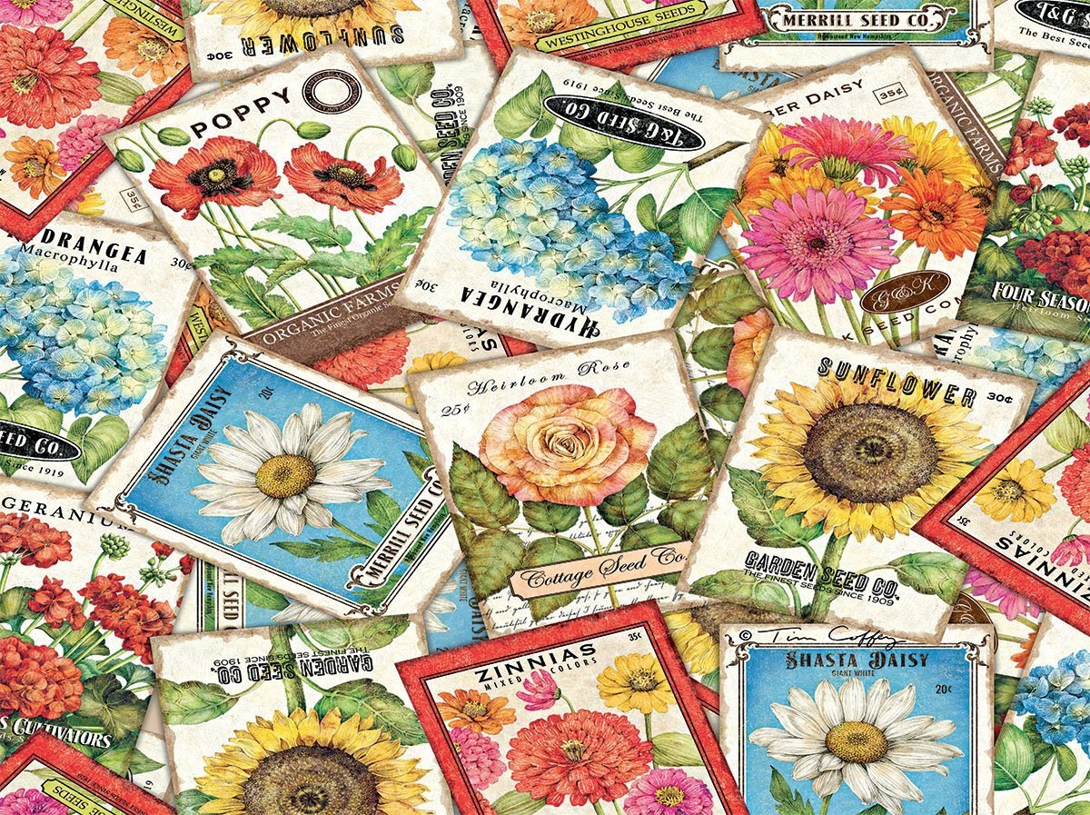 Seed Packets - 500pc Jigsaw Puzzle by Lang  			  					NEW