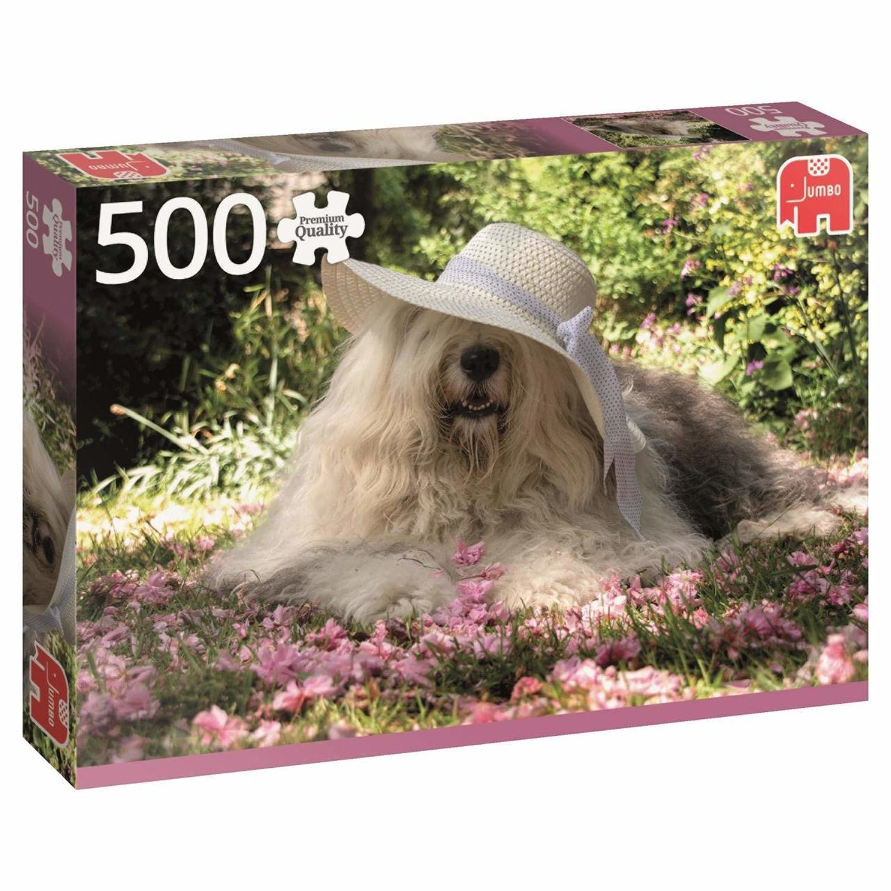 Sophie in a Bed of Flowers - 500pc Jigsaw Puzzle By Jumbo  			  					NEW - image 1