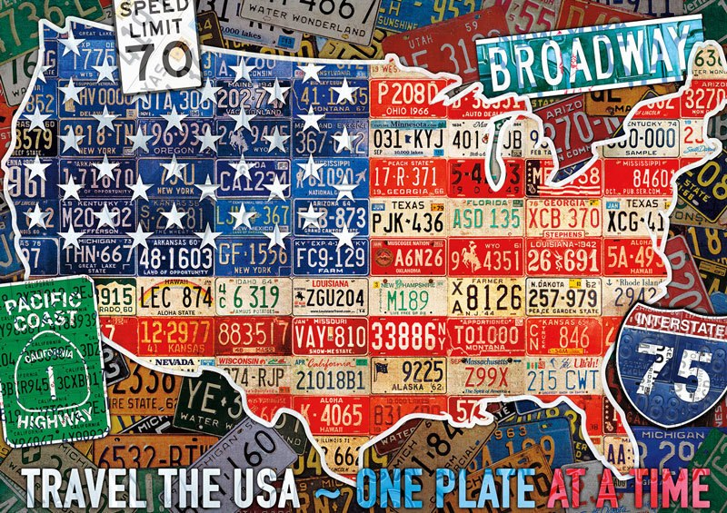 Travel the USA - 300pc Large Format Jigsaw Puzzle By Buffalo Games  			  					NEW