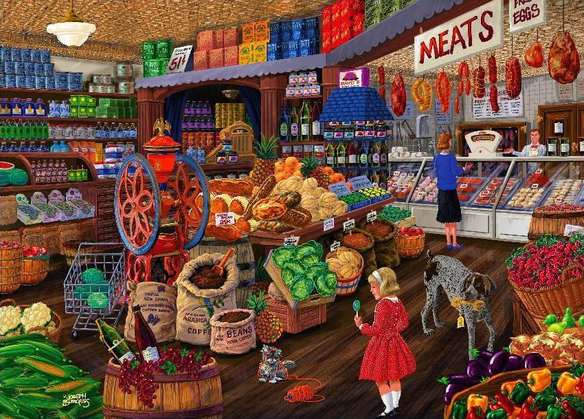 Love to Shop: The Grocery Store - 1000pc Jigsaw Puzzle by Holdson  			  					NEW