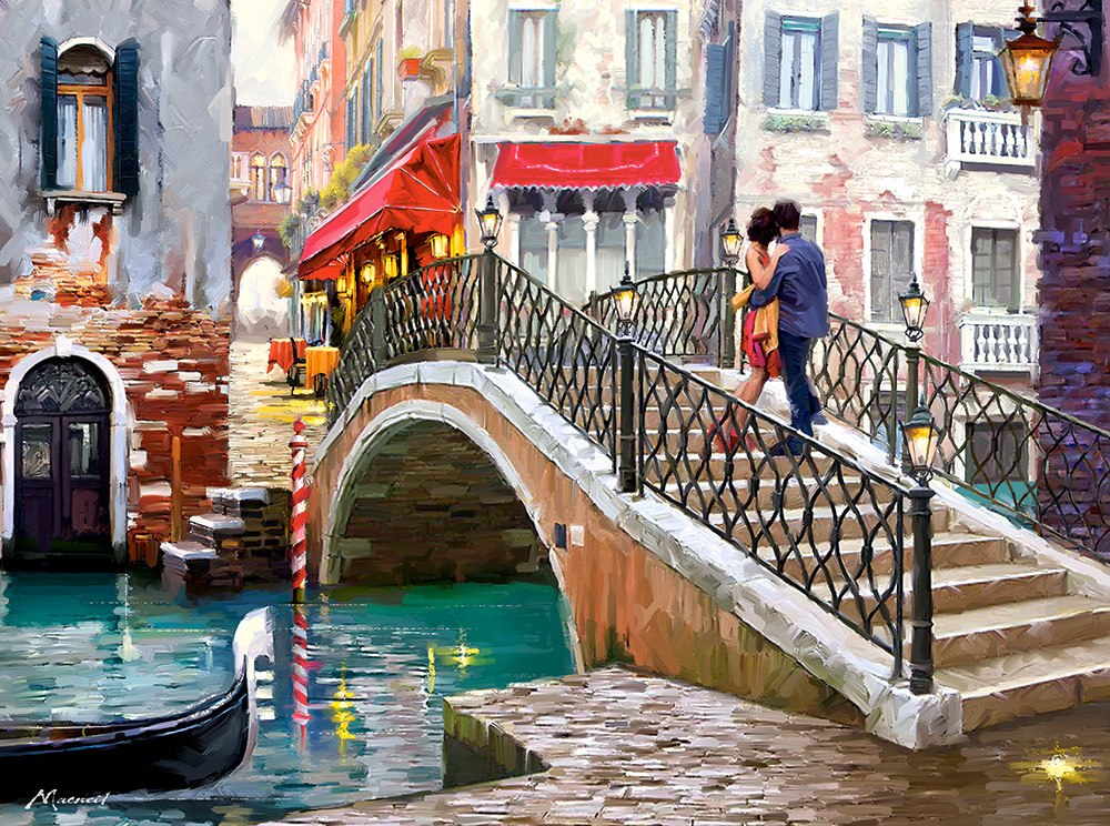 Venice Bridge - 2000pc By Castorland