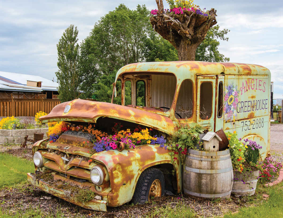 Flower Truck - 500pc Jigsaw Puzzle By Springbok