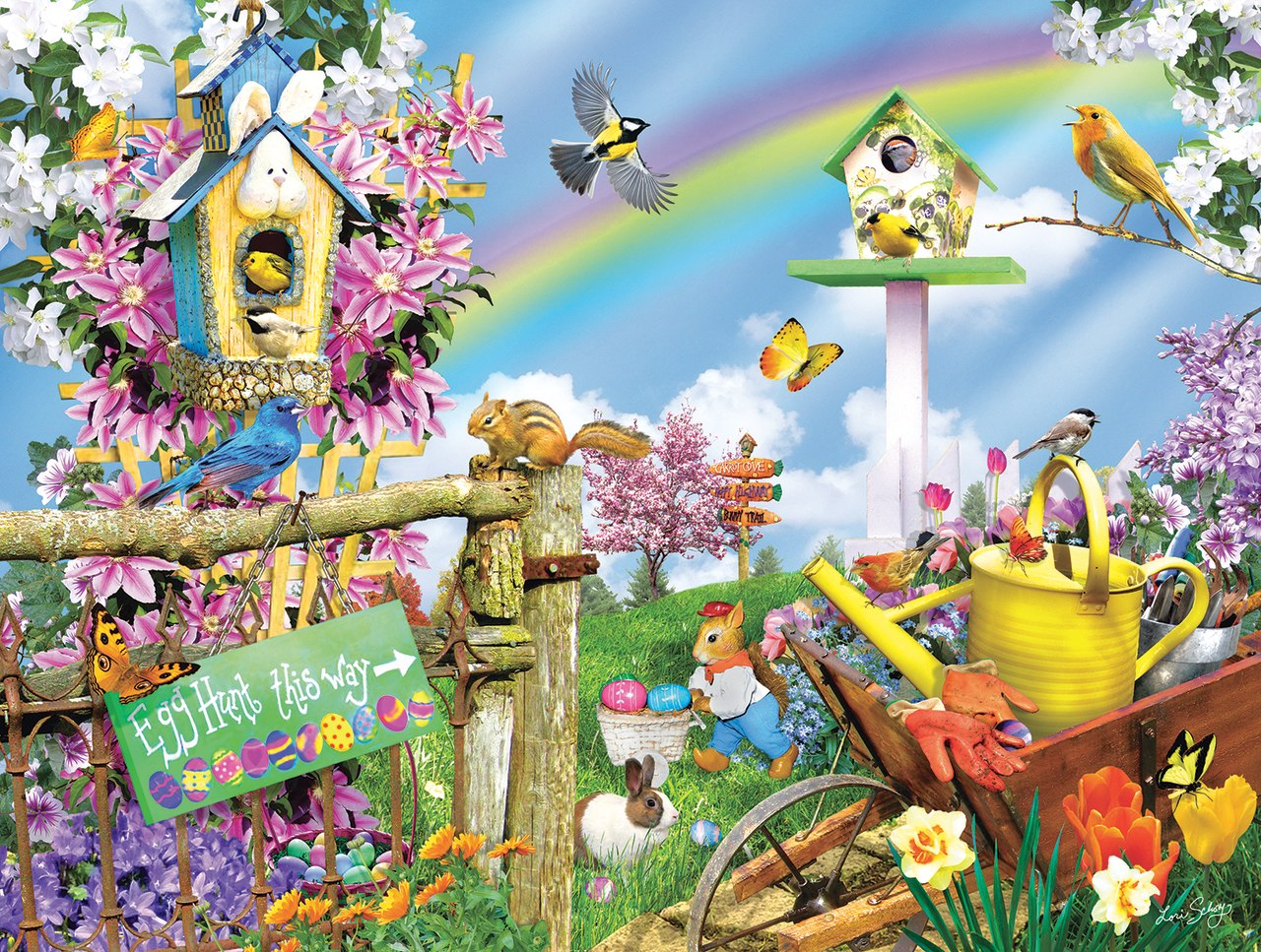 Spring Egg Hunt - 500pc Jigsaw Puzzle By Sunsout  			  					NEW