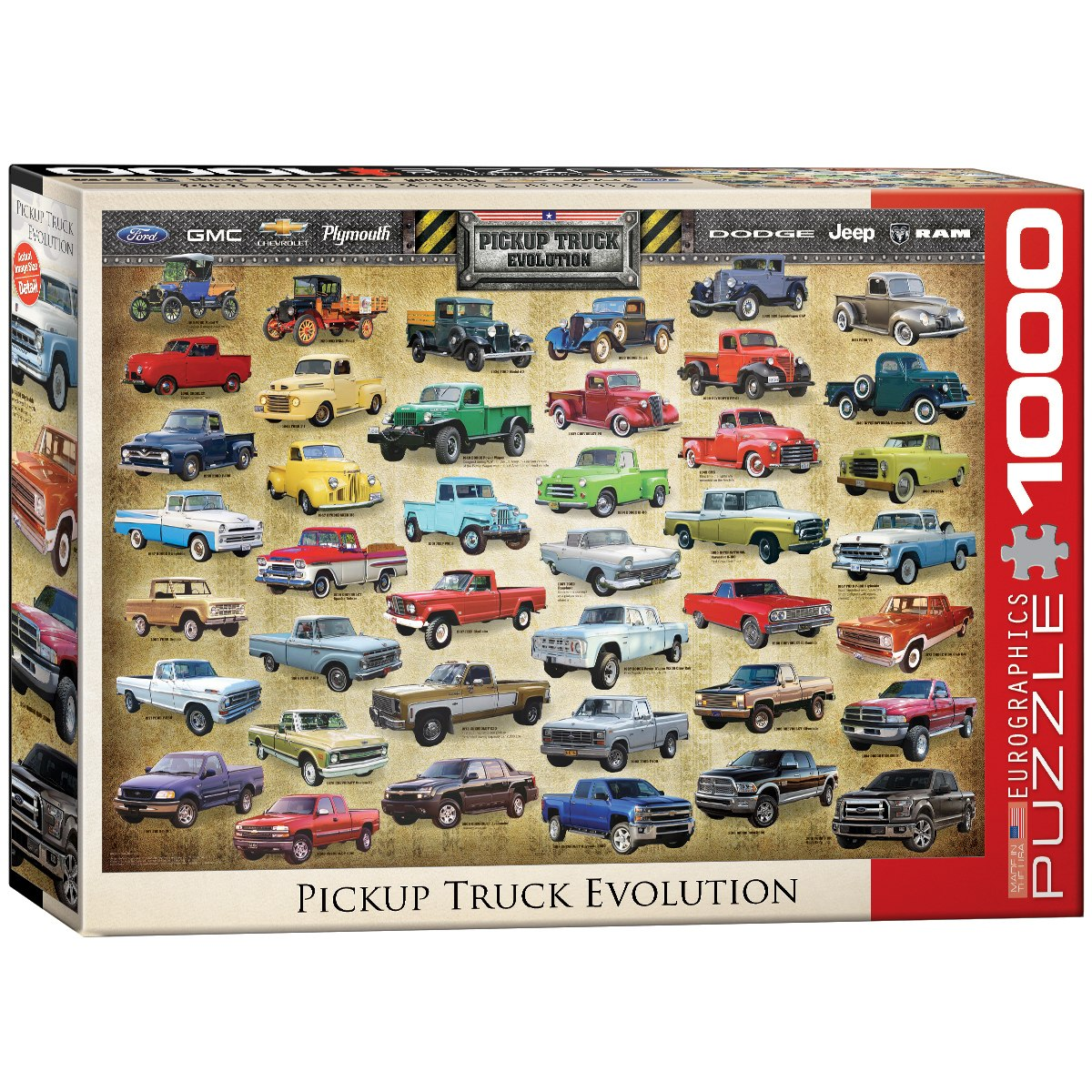 Pickup Truck Evolution - 1000pc Jigsaw Puzzle by Eurographics