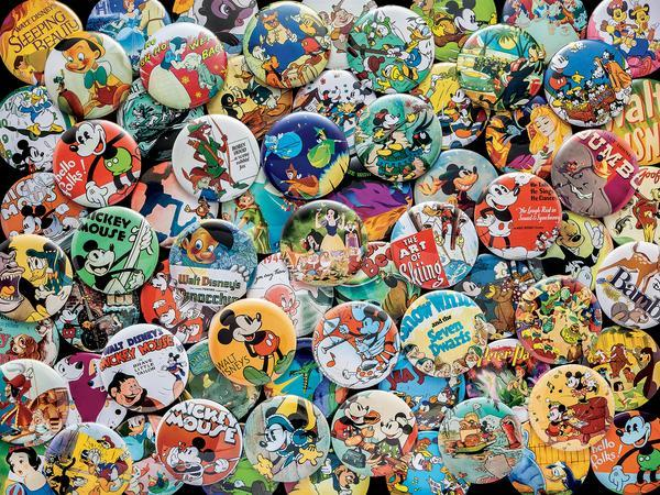 Disney: Vintage Buttons - 750pc Jigsaw Puzzle by Ceaco  			  					NEW