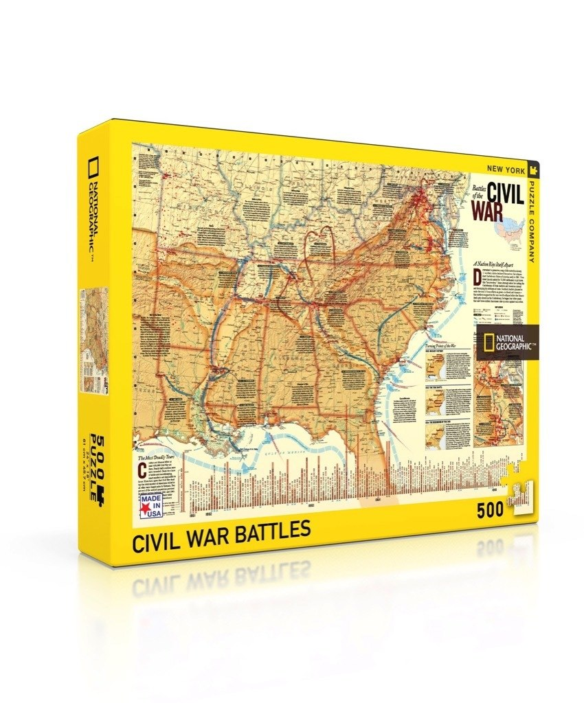 Battles of the Civil War - 500pc Jigsaw Puzzle by New York Puzzle Company  			  					NEW