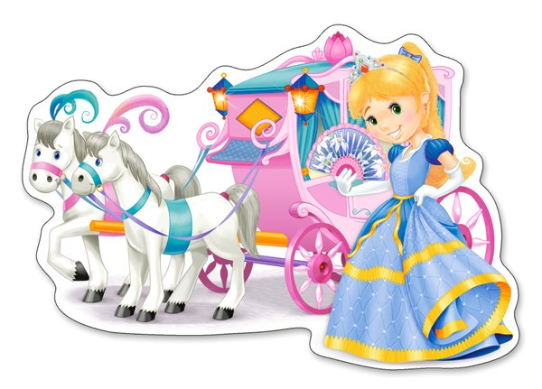 Princess Carriage - 12pc Jigsaw Puzzle By Castorland