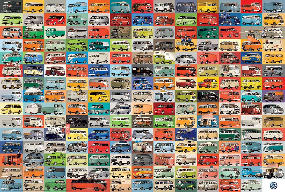 The VW Groovy Bus - 1000pc Jigsaw Puzzle By Eurographics  			  					NEW