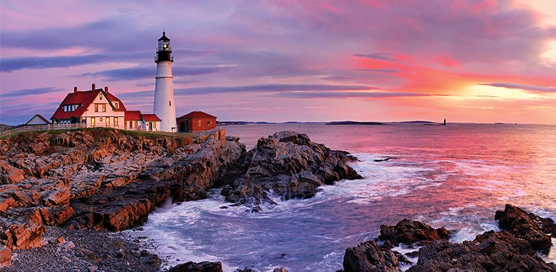Lighthouse at Portland - 1500pc Jigsaw Puzzle by Anatolian
