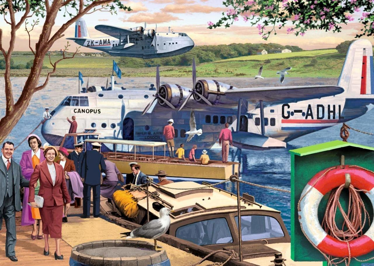 Empire Flying Boats - 1000pc Jigsaw Puzzle By Falcon  			  					NEW