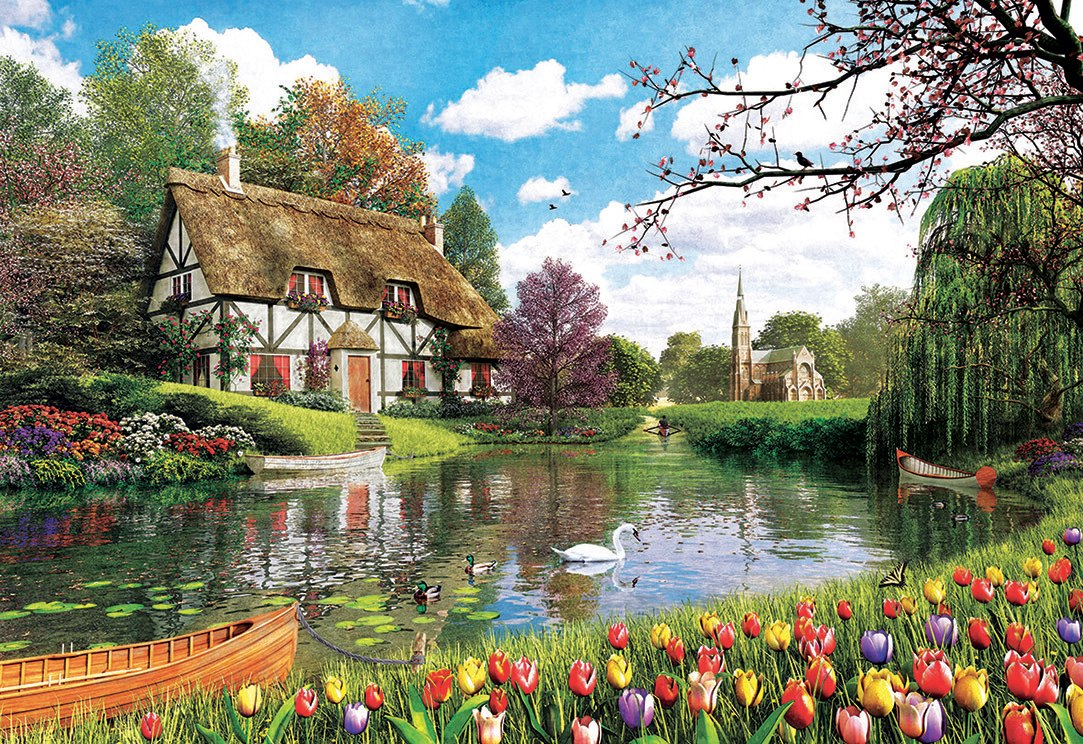 Lakeside Cottage - 6000pc Jigsaw Puzzle by Educa