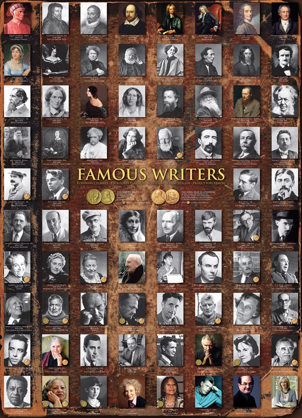 Famous Writers - 1000pc Jigsaw Puzzle by Eurographics