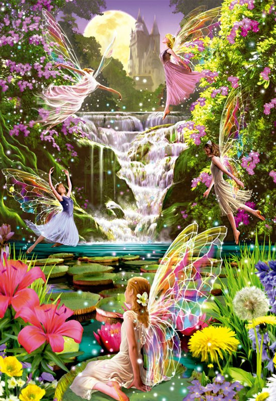 Waterfall Fairies - 500pc Jigsaw Puzzle By Educa
