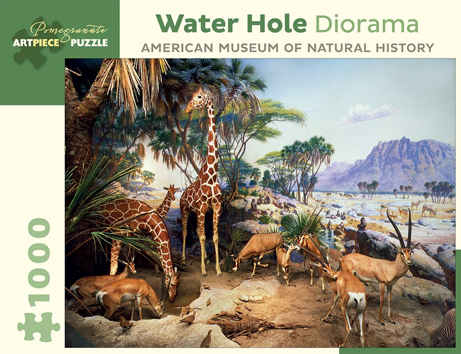 Water Hole Diorama - 1000pc Jigsaw Puzzle by Pomegranate  			  					NEW