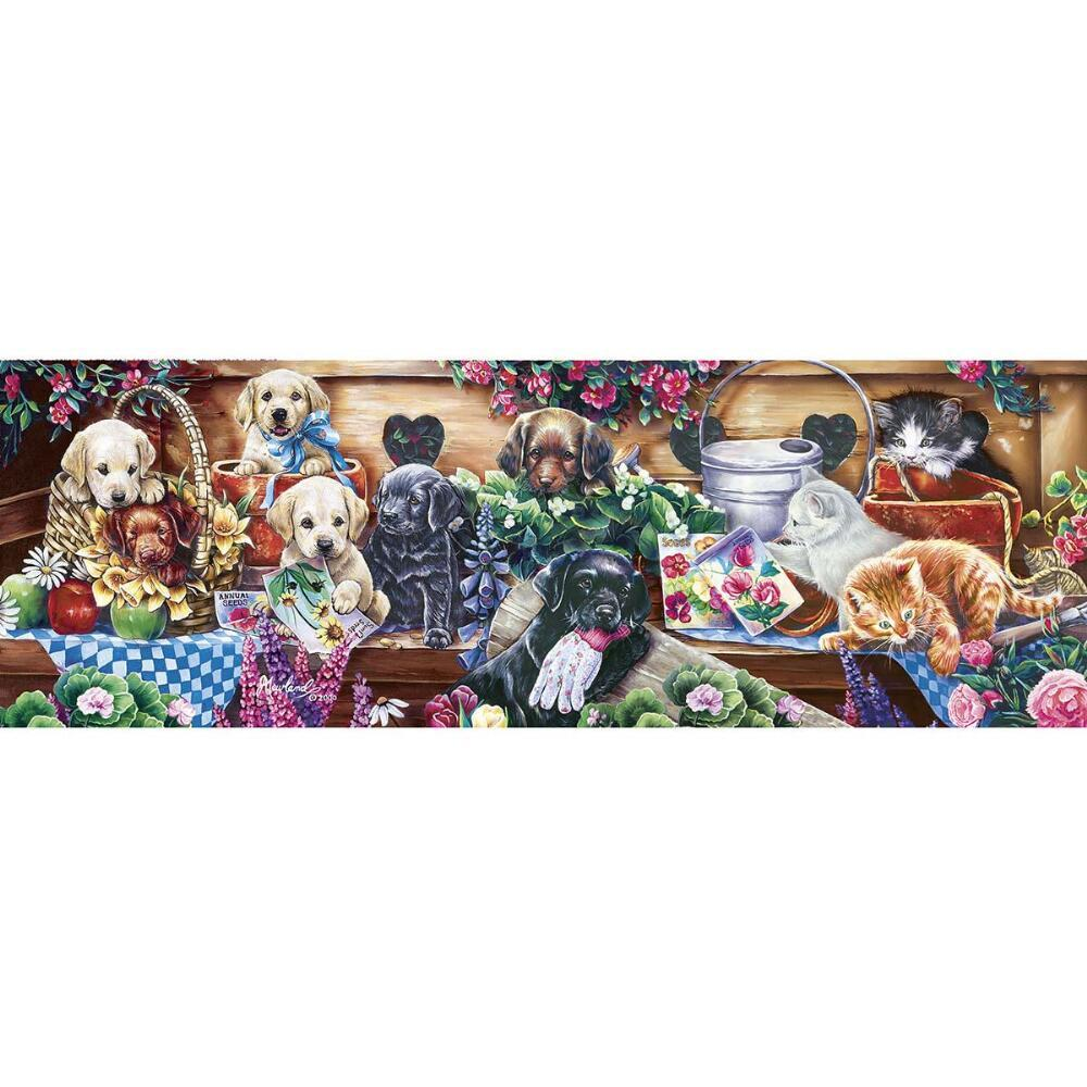 Flower Box Playground - 1000pc Panoramic Jigsaw Puzzle by Masterpieces  			  					NEW
