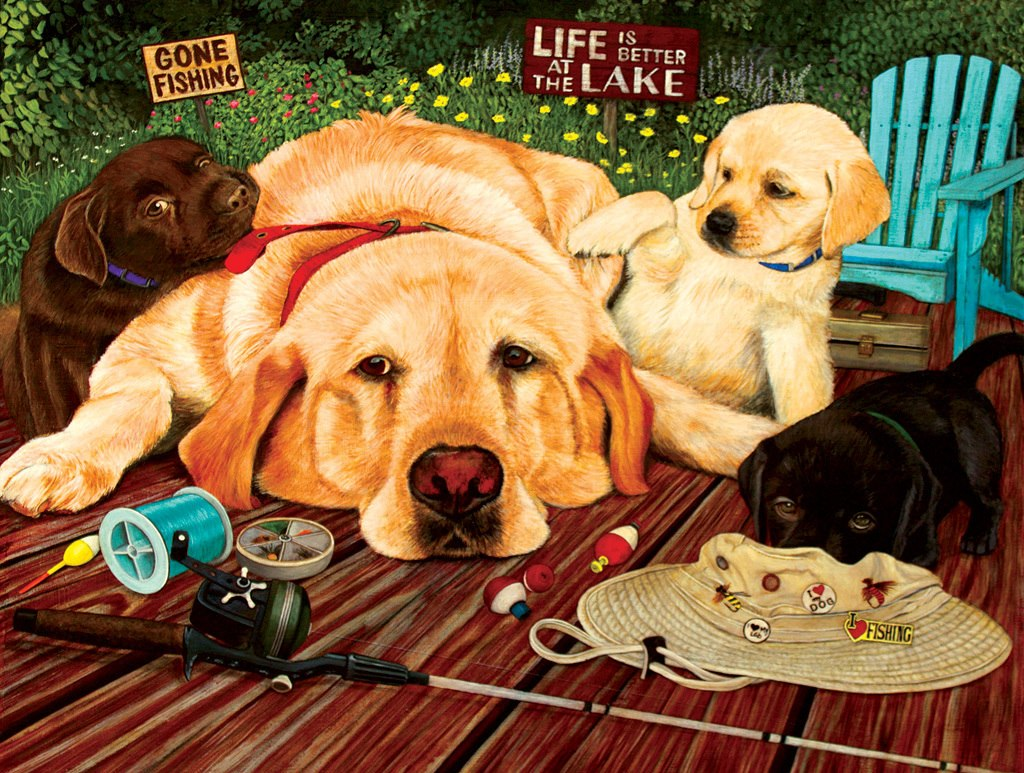 Life is Better at the Lake - 500pc Jigsaw Puzzle by Sunsout