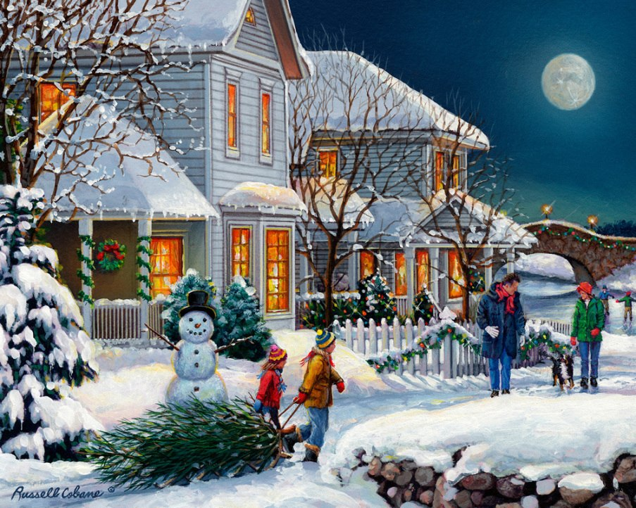 Holiday Walk - 1000pc Jigsaw Puzzle by Vermont Christmas Company  			  					NEW
