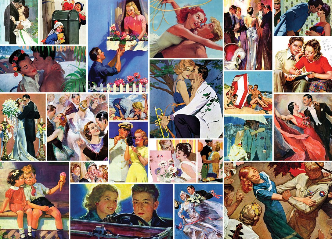 Saturday Evening Post: Romance Collage - 1000pc Jigsaw Puzzle by Masterpieces