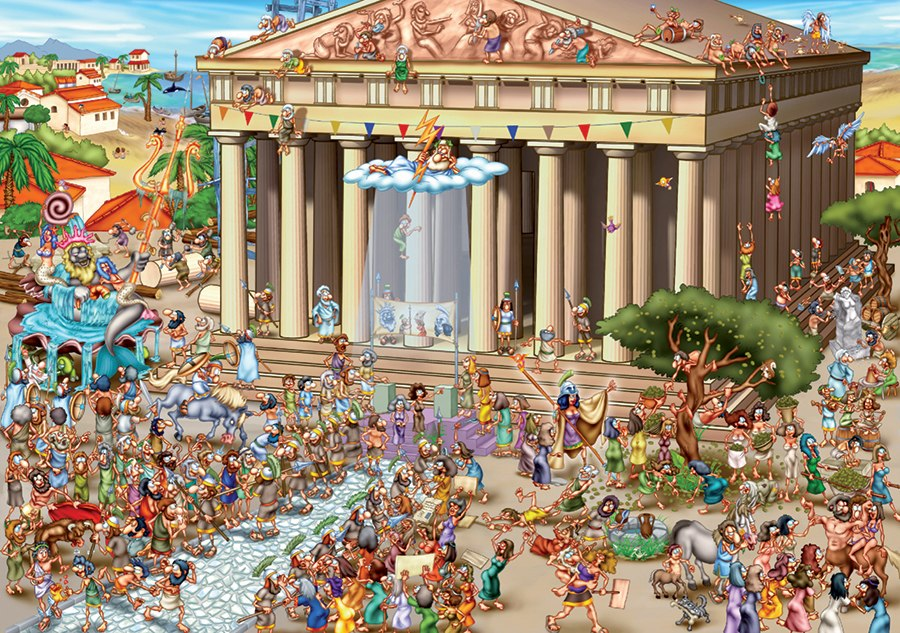 Acropolis of Athens - 1000pc Jigsaw Puzzle by D-Toys